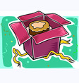 cake with packet vector image vector image