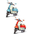 old-fashioned scooter vector image vector image