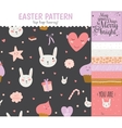 Set of cards notes and stickers with cute vector image