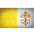 Flags Vatican CityHoly See with broken glass vector image