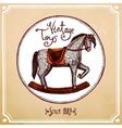 Vintage Rocking Horse vector image