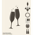 Champagne Icon set vector image