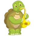 Funny Turtle Saxophonist vector image vector image