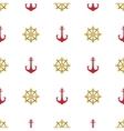 Grunge marine seamless pattern vector image