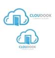cloud and door logo concept vector image