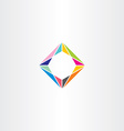 abstract square geometric colorful logo business vector image
