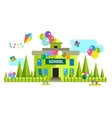 Back to school background building vector image