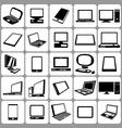 computer icons set vector image