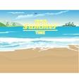 Deserted beach vector image