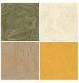 Four Seamless Topographic Map Patterns vector image