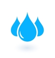isolated drops silhouette vector image