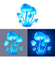 magic mushrooms isolated vector image