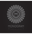 MONOGRAM icon vector image