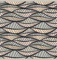 seamless vintage texture with stylized leaves vector image
