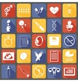 Simple pregnancy icons vector image