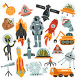 space hand drawn icons set vector image