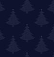 Seamless pattern Christmas tree 00 vector image vector image