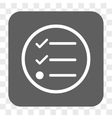 Checklist Rounded Square Button vector image