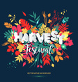 Harvest festival in paper style Fall style for vector image