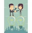 Businessmen handshaking after business meeting vector image
