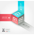 Abstract box infographics options banner vector image vector image