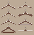 set of cute hanger clothes vector image