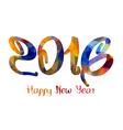 Happy New Year 2016 colorful geometrical vector image