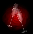 two champagne vector image vector image