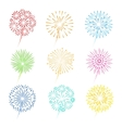 Festive fireworks icons vector image