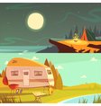 Hiking And Camping Banners Set vector image