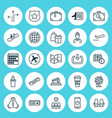 airport icons set collection of siren shopping vector image