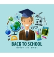 back to school logo design template vector image