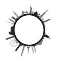 black round cityscape vector image