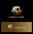 document hospital gold logo vector image