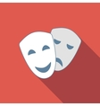 Drama flat icon vector image