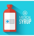 flat medical syrup background concept vector image