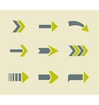 Green arrows icons sign collection vector image