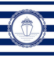 sea emblem with a liner vector image