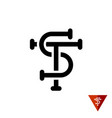 st initial letters logo vector image