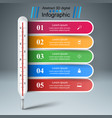 thermometer business infographic five paper vector image