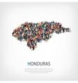 people map country Honduras vector image