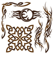 set of Gothic and Celtic ornament for desig vector image
