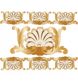 Classic royal golden card vector image