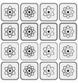 monochrome planetary atom model science icon set vector image