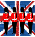 Guardsmen Marching vector image vector image