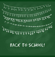 Back to school card with garlands vector image