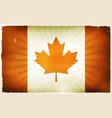 vintage canada flag poster background vector image