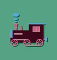 flat icon design kids train in sticker style vector image