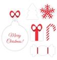 Christmas symbols isolated on white vector image