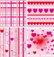 Set of love seamless background vector image vector image